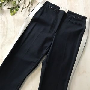 3.1 Phillip Lim Navy and White High Rise Crop Pant